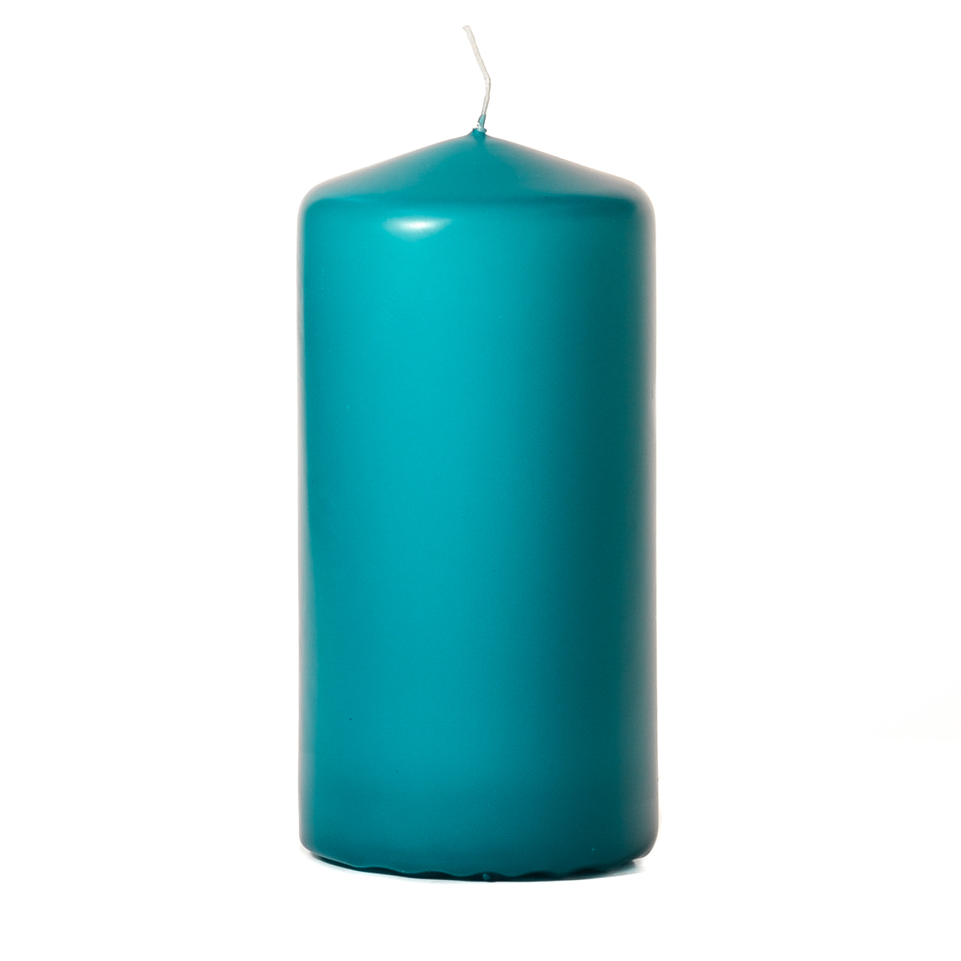 3x6 Mediterranean Blue Pillar Candles Unscented