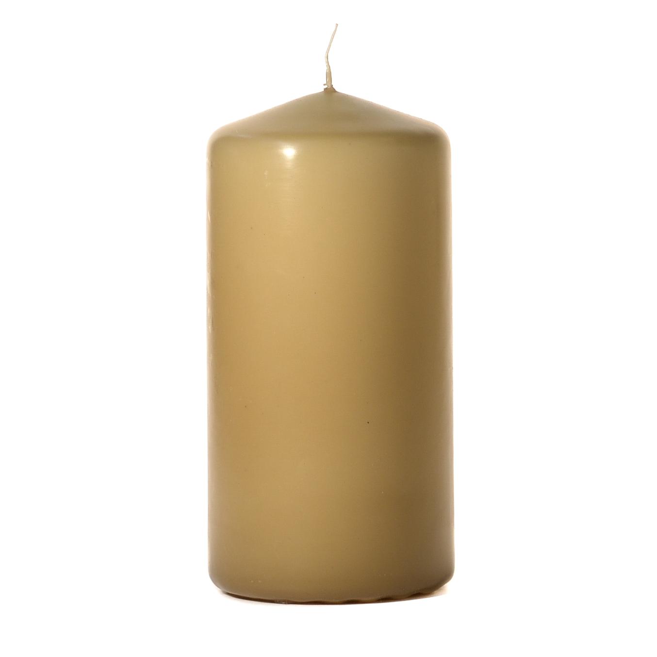 3x6 Parchment Pillar Candles Unscented