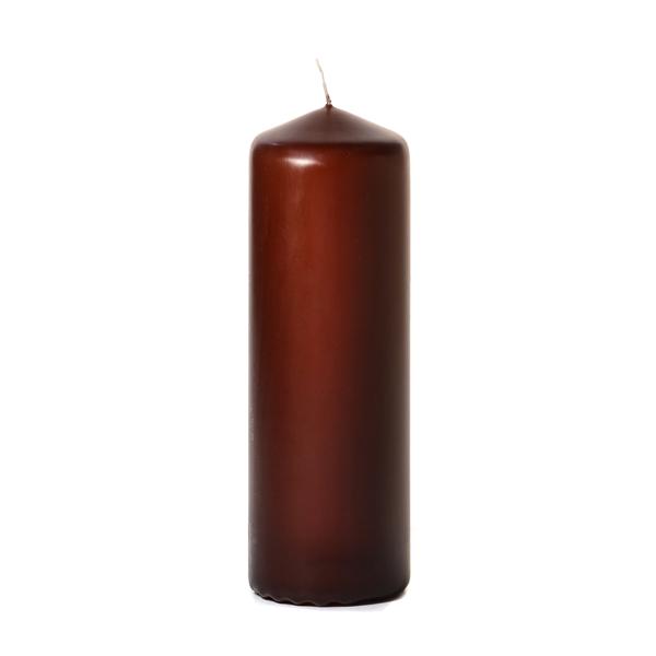 3x9 Brown Pillar Candles Unscented