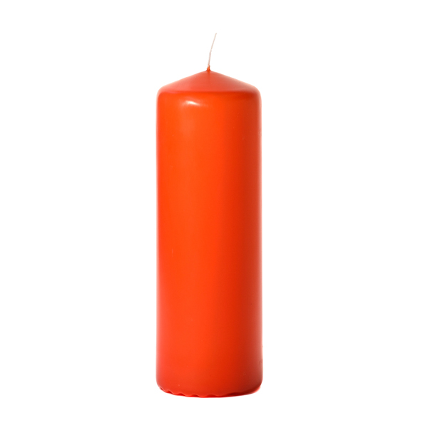 3x9 Burnt Orange Pillar Candles Unscented