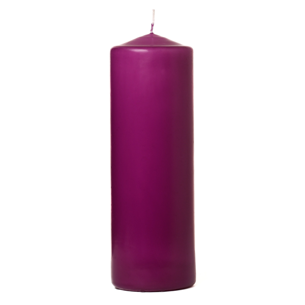 3x9 Lilac Pillar Candles Unscented