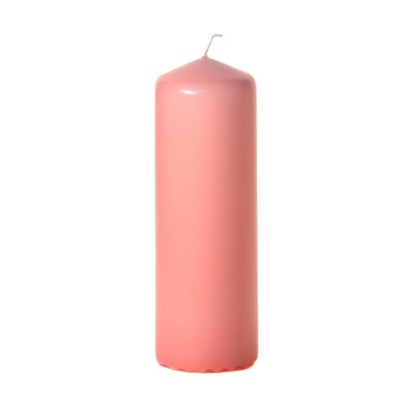 3x9 Pink Pillar Candles Unscented