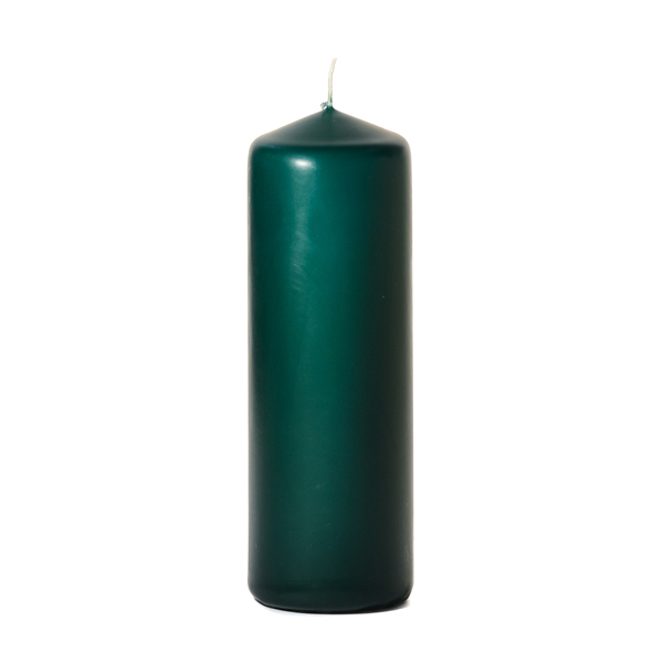 3x9 Hunter Green Pillar Candles Unscented