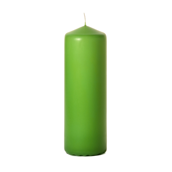 3x9 Lime Green Pillar Candles Unscented