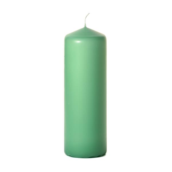 3x9 Mint Green Pillar Candles Unscented