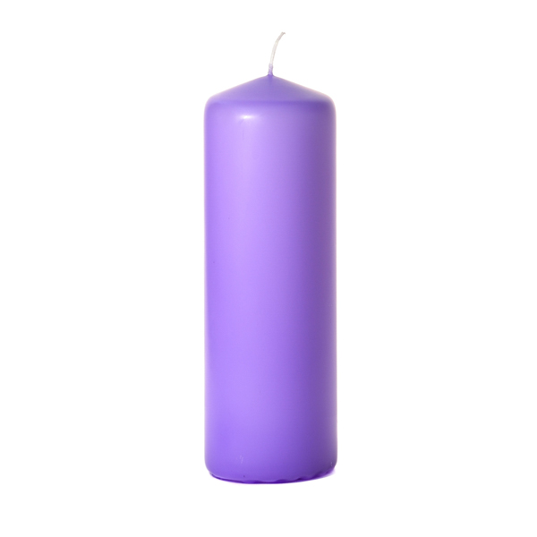 3x9 Orchid Pillar Candles Unscented