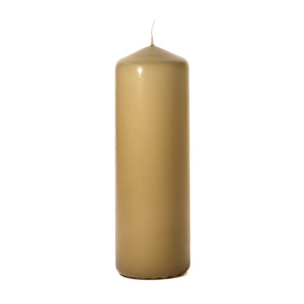 3x9 Parchment Pillar Candles Unscented