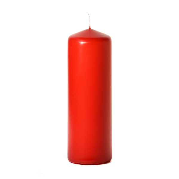 3x9 Red Pillar Candles Unscented