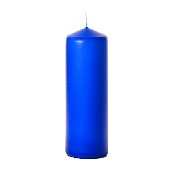 3x9 Royal Blue Pillar Candles Unscented