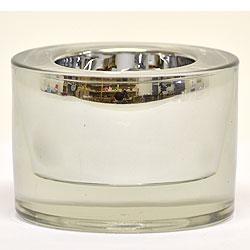 Round Tea Light Holder 3 Inch Silver