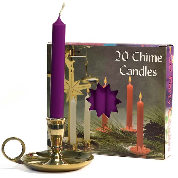 Chime Candles Plum