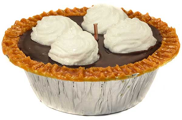 Chocolate Pudding Pie Candles 5 Inch
