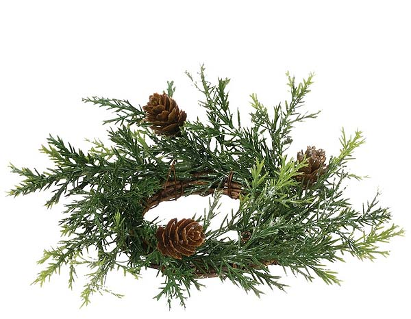 Prickly Pine Candle Rings 2 Inch