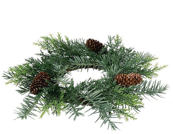 Prickly Pine Candle Rings 4.5 inch