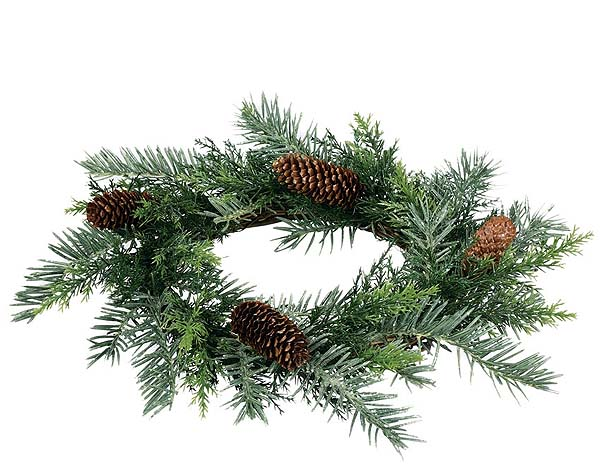 Prickly Pine Candle Rings 6.5 inch