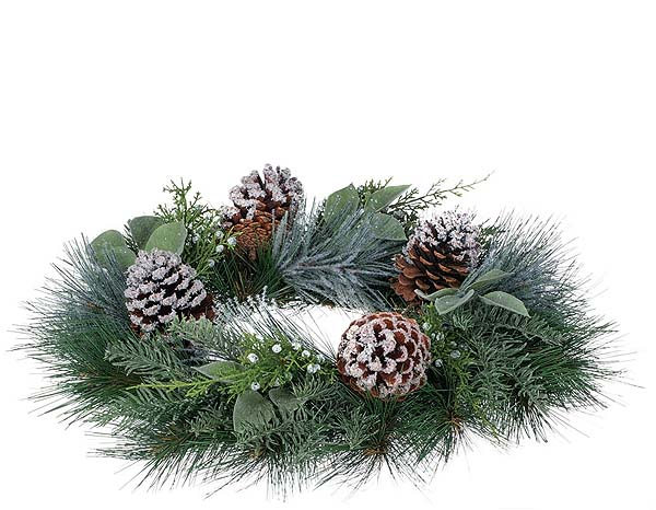 Pine Noble Fir Candle Rings 6.5 Inch