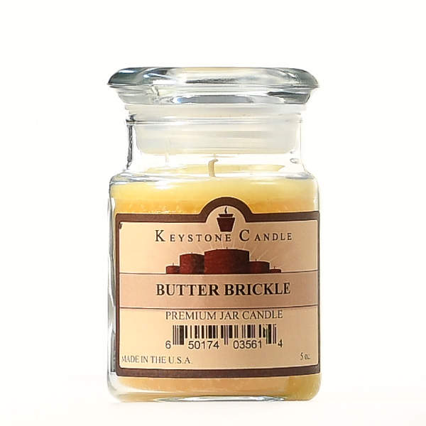 5 oz Butter Brickle Jar Candles