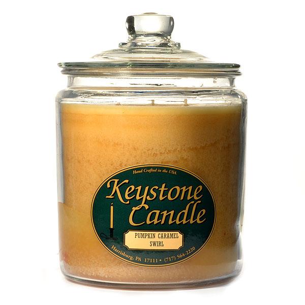 64 oz Pumpkin Caramel Swirl Jar Candles