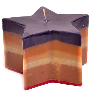 Colored Layered Star Candles
