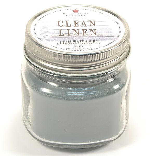 Half Pint Mason Jar Candle Clean Cotton