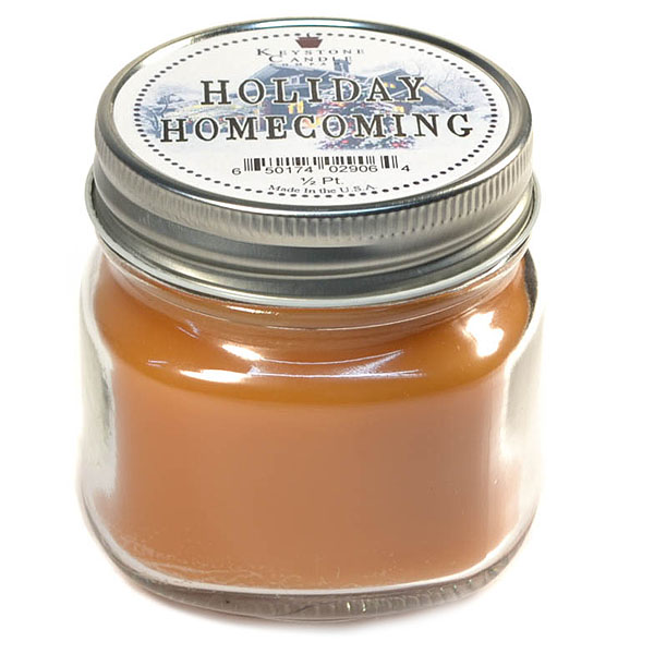 Half Pint Mason Jar Candle Holiday Homecoming