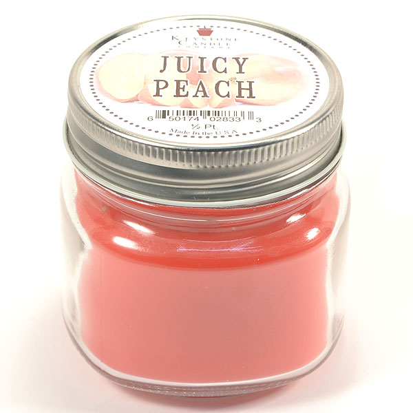 Half Pint Mason Jar Candle Juicy Peach