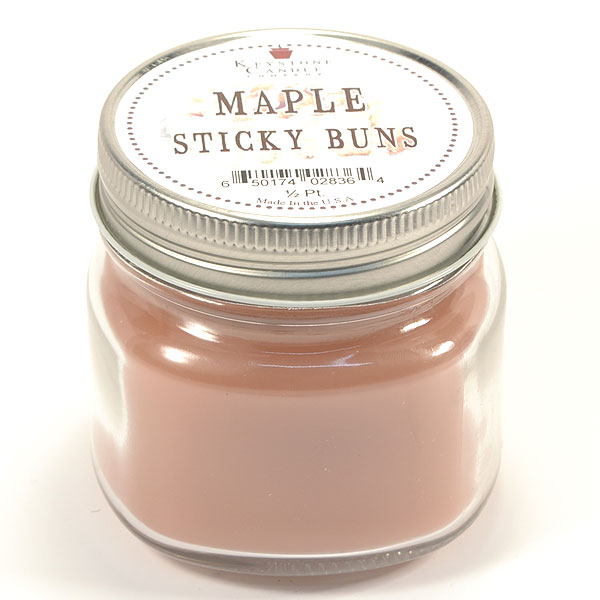 Half Pint Mason Jar Candle Maple Sticky Buns