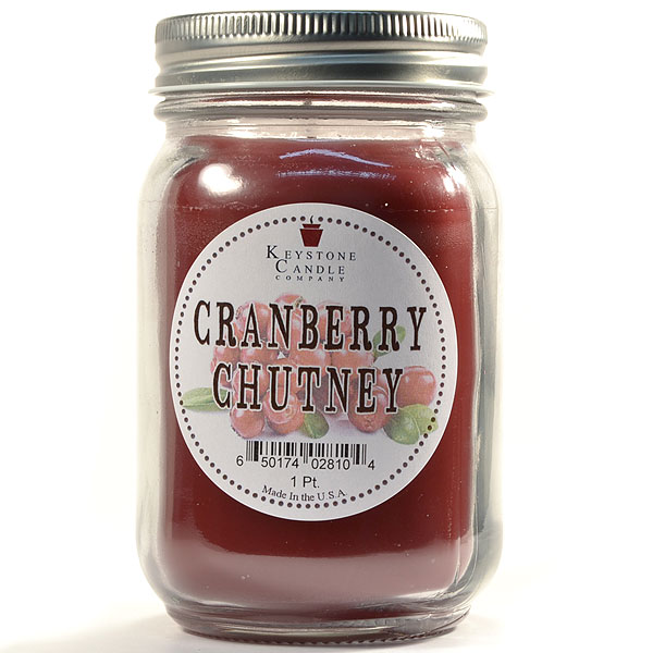 Pint Mason Jar Candle Cranberry Chutney