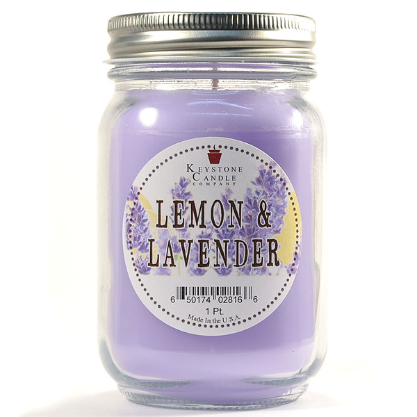 Pint Mason Jar Candle Lemon and Lavender