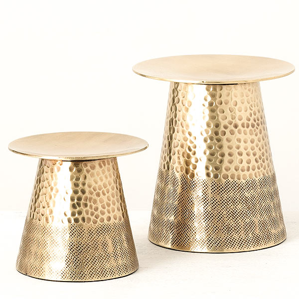 Gold Metal Candle Holder Set of 2