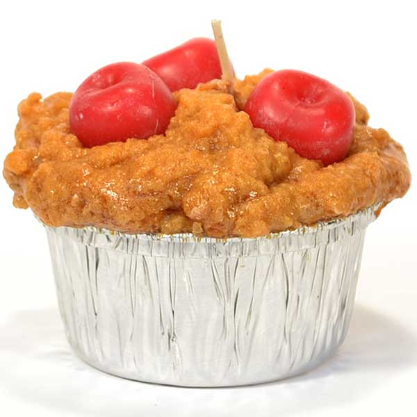 Muffin Shaped Candle Cherry