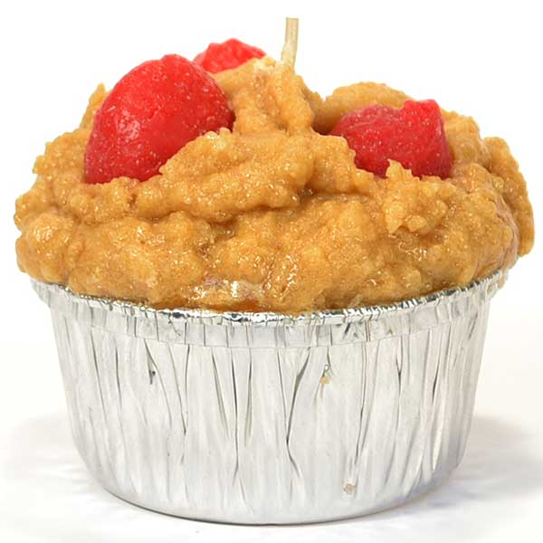 Muffin Shaped Candle Strawberry