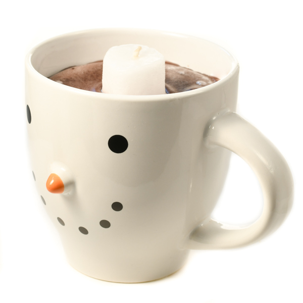 Chocolate Candle in Snowman Mug