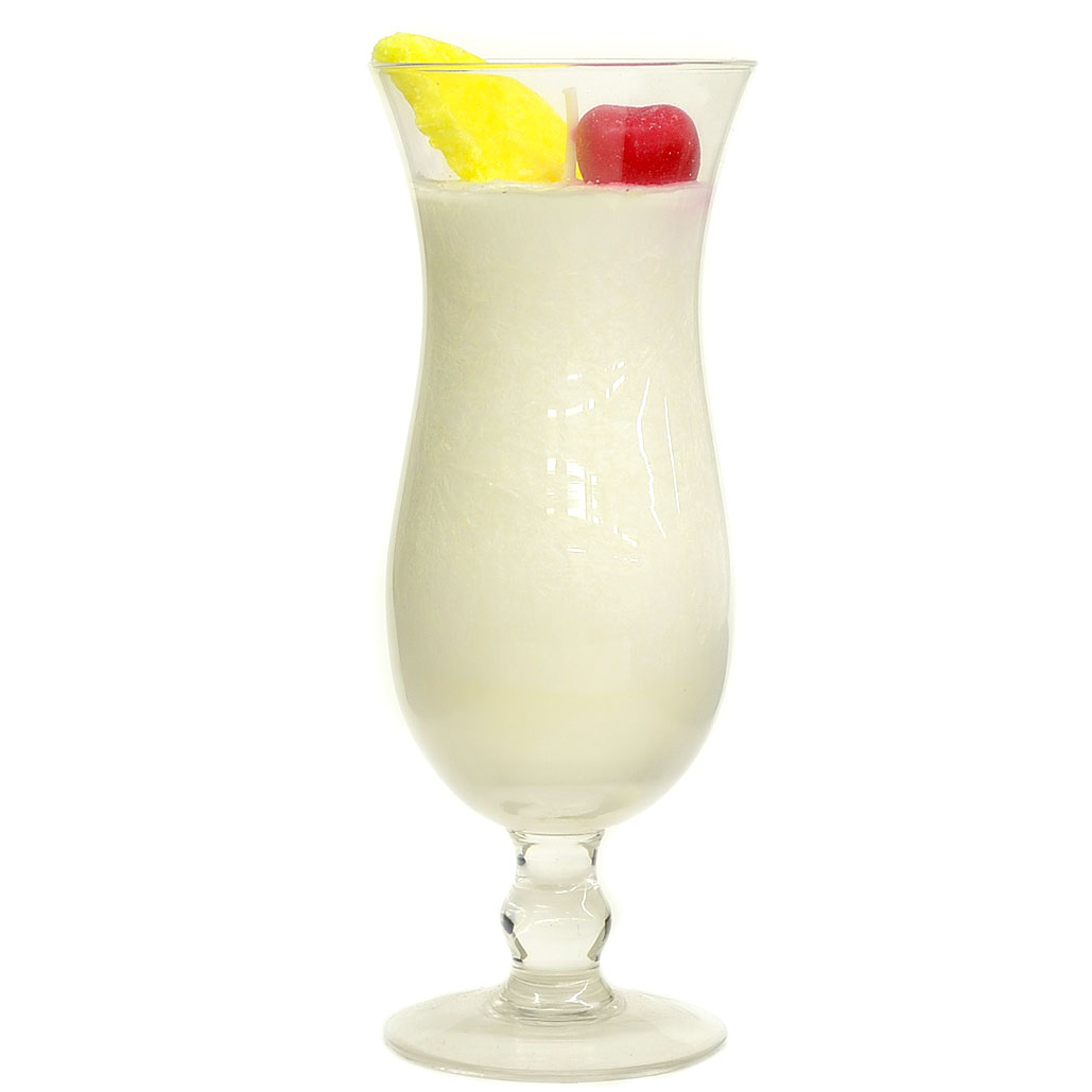 Pina Colada Scented Unique Drink Candles In Glass Cup