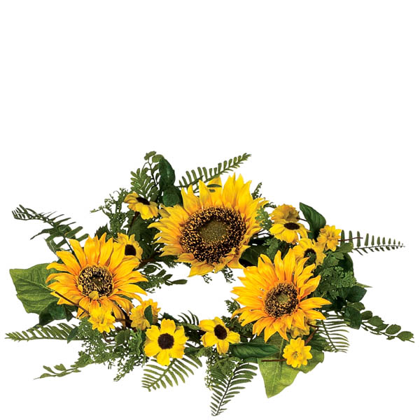 Sunflower 6.5 Inch Candle Ring