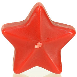 Star Floating Candles Medium Red