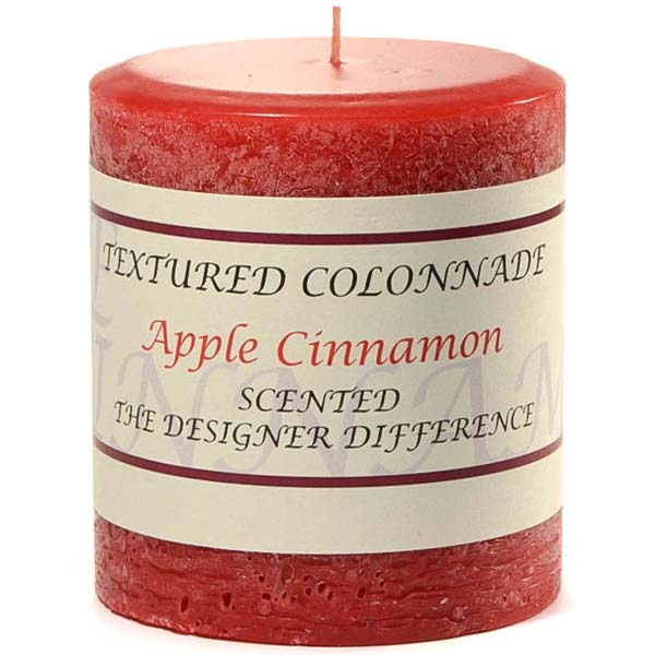 Textured 3x3 Apple Cinnamon Pillar Candles