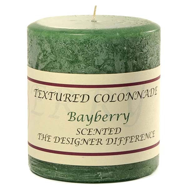 Textured 3x3 Bayberry Pillar Candles