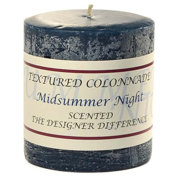 Textured 3x3 Midsummer Night Pillar Candles