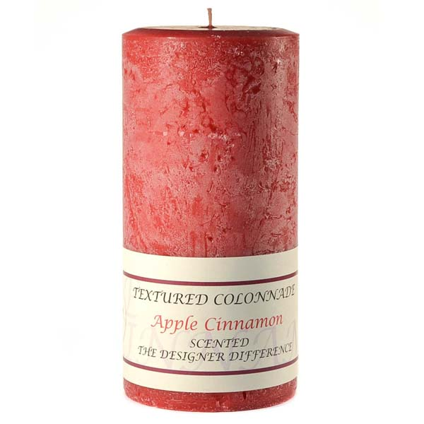 Textured 3x6 Apple Cinnamon Pillar Candles