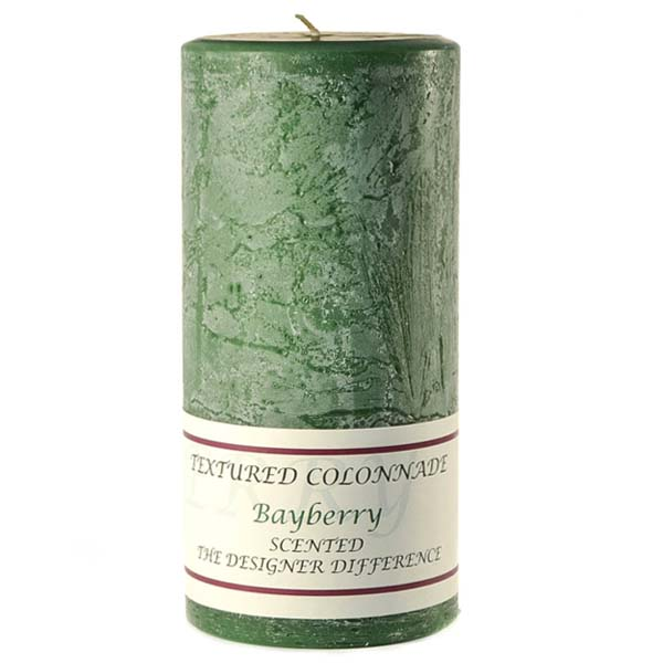 Textured 4x9 Bayberry Pillar Candles