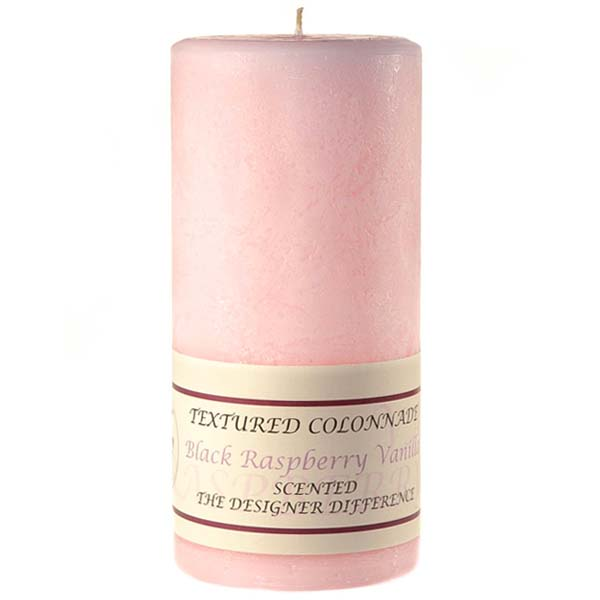 Textured 4x9 Black Raspberry Vanilla Pillar Candles