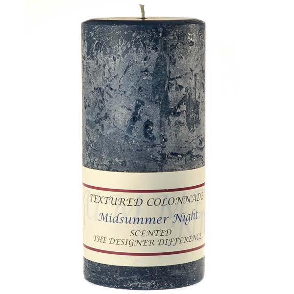 Textured 3x6 Midsummer Night Pillar Candles