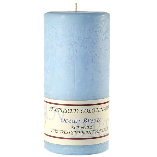 Textured 3x6 Ocean Breeze Pillar Candles