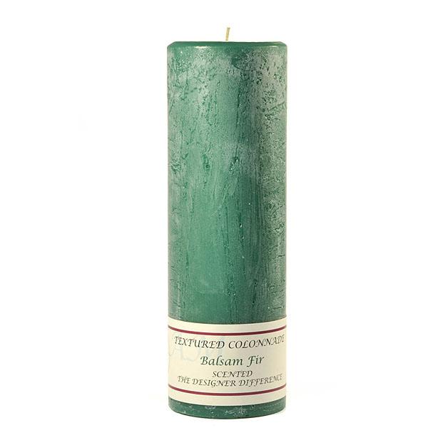 Textured 3x9 Balsam Fir Pillar Candles
