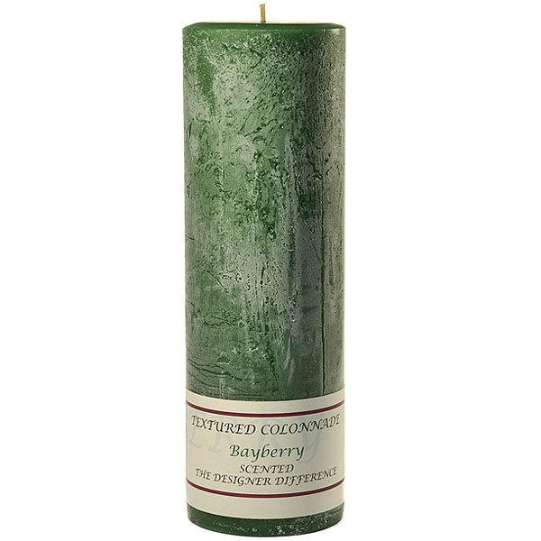 Textured 3x9 Bayberry Pillar Candles