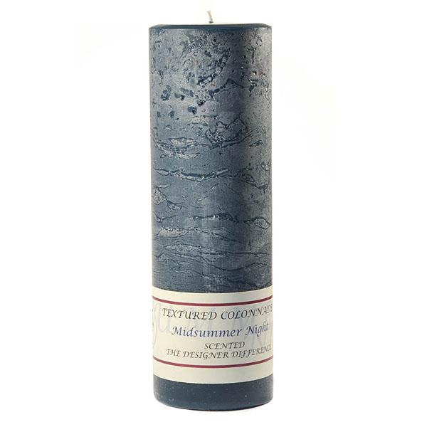 Textured 3x9 Midsummer Night Pillar Candles