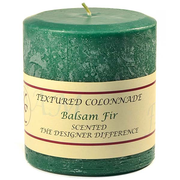 Textured 4x4 Balsam Fir Pillar Candles