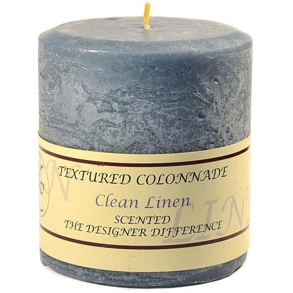 Textured 4x4 Clean Cotton Pillar Candles