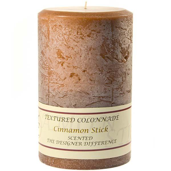 Textured 4x6 Cinnamon Stick Pillar Candles